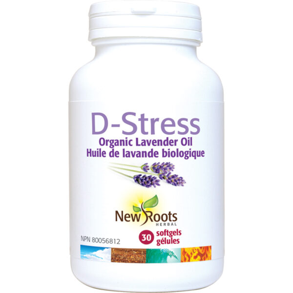 D-Stress Organic Lavender Oil 30 softgels