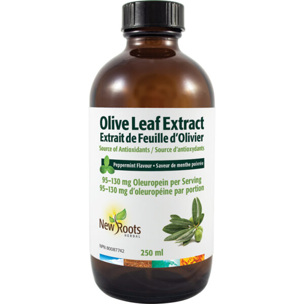 Olive Leaf Extract (Liquid) 95–130mg Oleuropein per Serving 250 ml