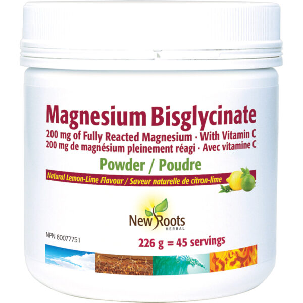 Magnesium Bisglycinate Fully Reacted Magnesium · With Vitamin C 226 g
