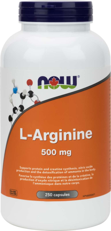 L-Arginine 500mg (Free Form) 250cap