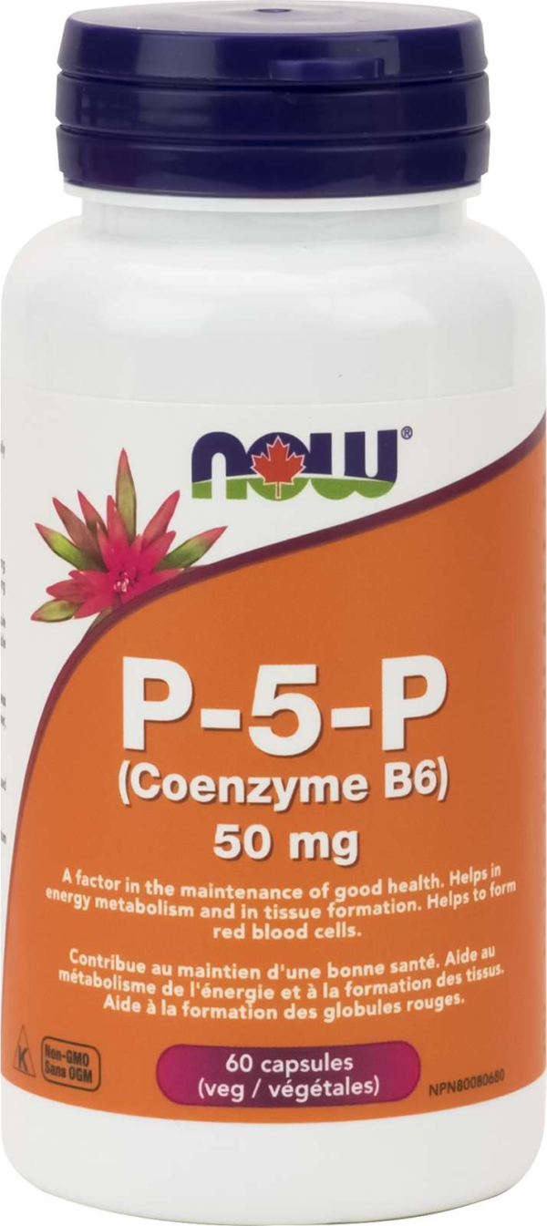 P-5-P Coenzyme-B6 50mg with Mg Bisglycinate 60vcap