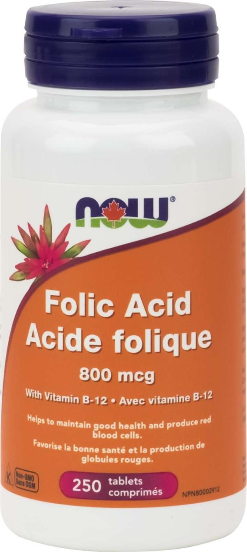 Folic Acid 800mcg + B-12  25mcg  250tab