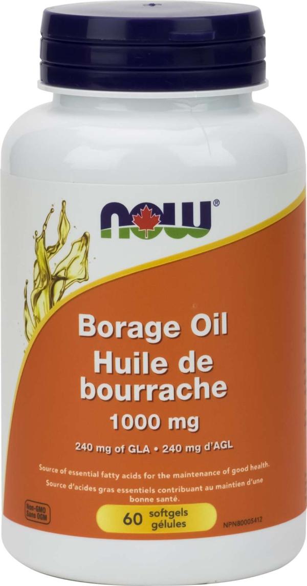 Borage Oil 1000mg (240mg GLA)   60gel