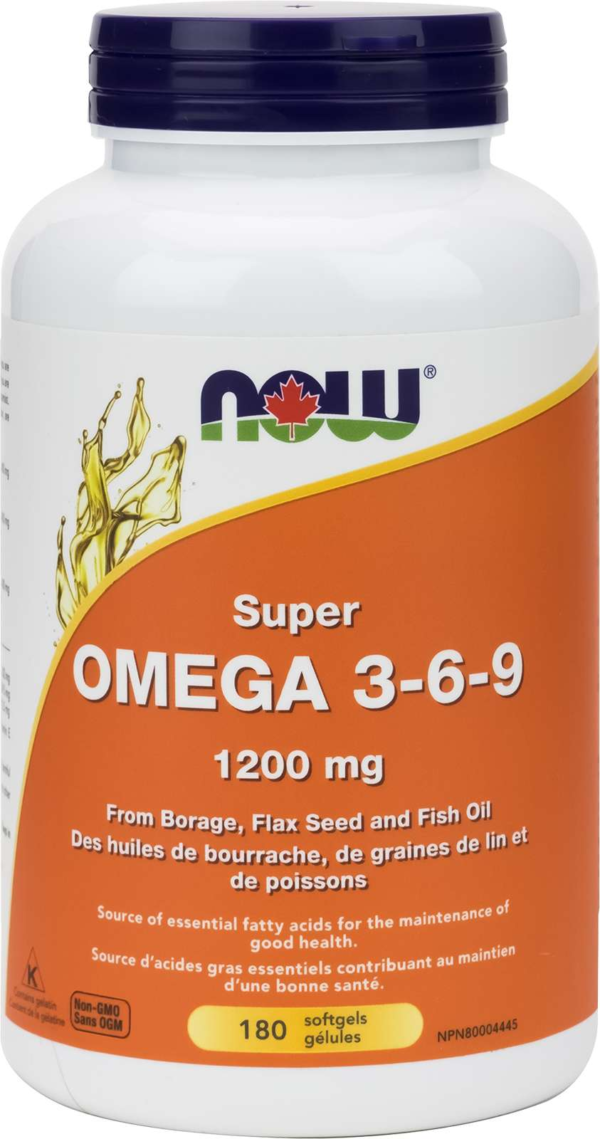 Omega 3-6-9  1200mg (Borage/Flax/Fish) 180gel
