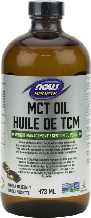 MCT Oil 99+ % pure, Vanilla Hazelnut (glass) 473mL
