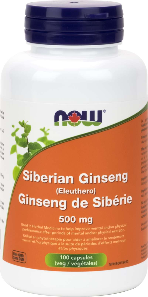Siberian Ginseng 500mg 100vcap
