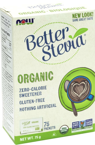Organic Stevia w/inulin Packets 1g*75