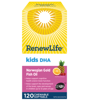 Renew Life® Kids DHA Norwegian Gold, Fish Oil, Daily Vitamin and Omega 3's