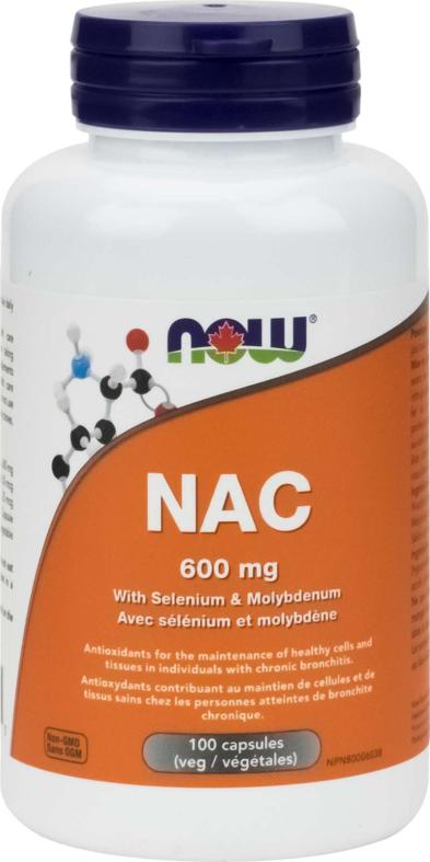 NAC-Acetyl Cysteine 600mg 100vcap