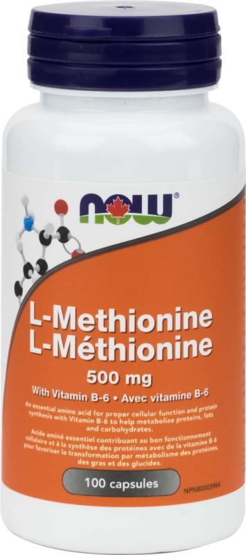 L-Methionine 500mg 100cap