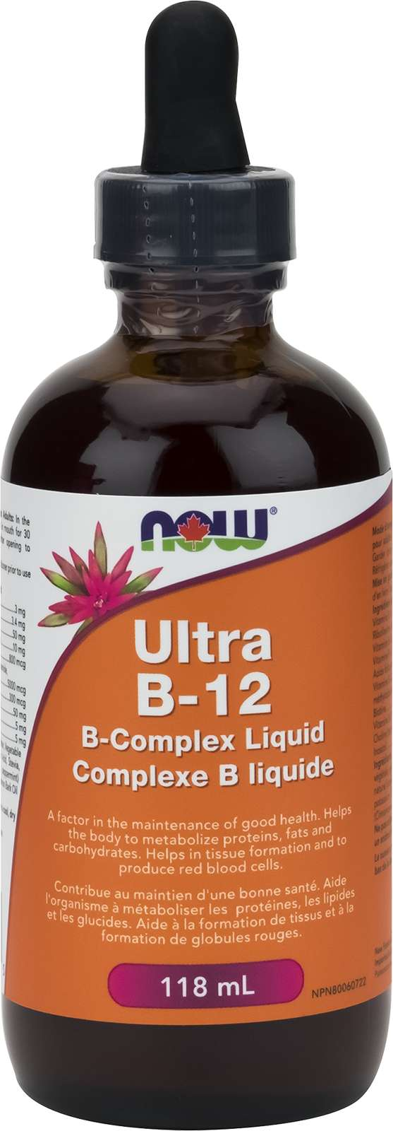 Liquid B-12, Ultra B-Complex (5,000mcg) 118mL