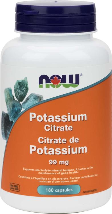Potassium Citrate 99mg 180cap