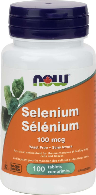 Selenium 100mcg (yeast free) 100tab