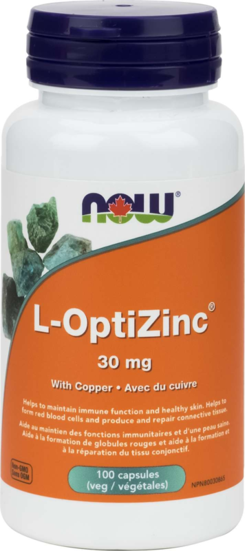 Opti-L-Zinc (Monomethionine) 30mg + Copper 100vcap