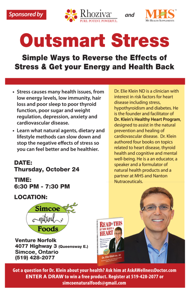 Free Seminar: Outsmart Stress (October 24)