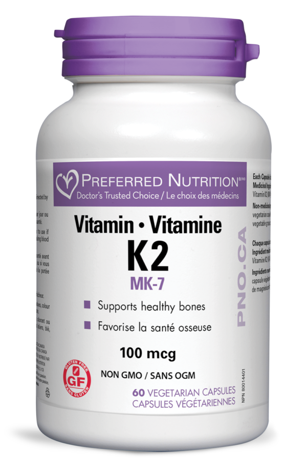 Vitamin K2 100mcg 60 vegicaps