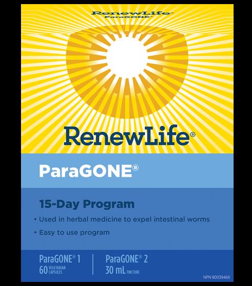 Renew Life® ParaGONE®, 15 Day Anti-Parasite Cleansing Program, 1 Kit