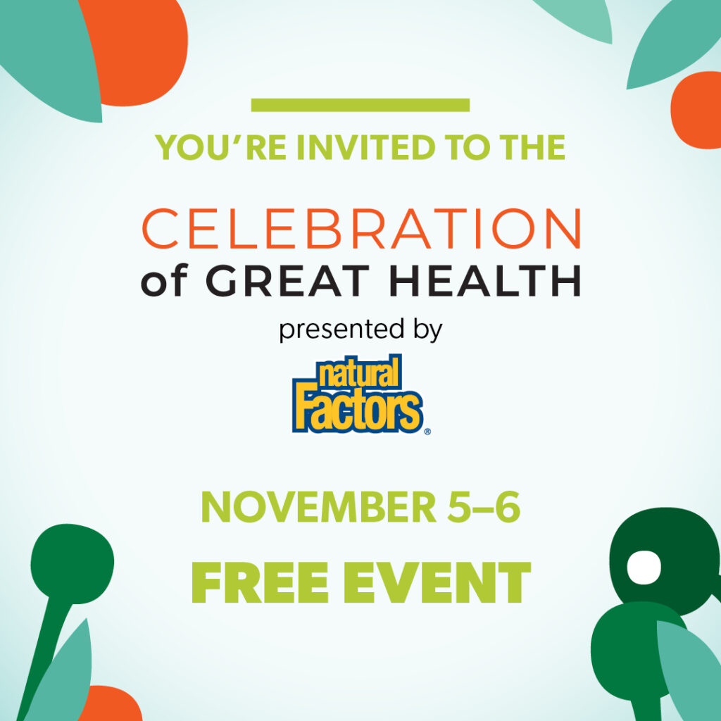 Virtual Celebration of Great Health November 5–6, 2020