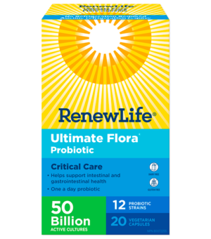 Renew Life® Ultimate Flora® Critical Care Probiotic, 50 Billion Active Cultures 20 Capsules