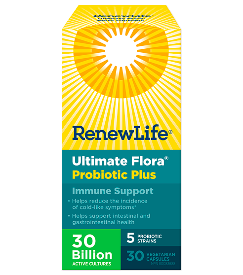 Ultimate Flora® Probiotic Plus Immune Support, 30 Billion Active Cultures, 30 Capsules