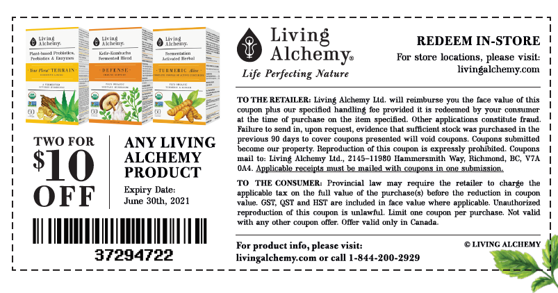 Living Alchemy Coupon