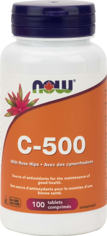 C-500 with 40mg Rose Hips (citrus free) 100tab