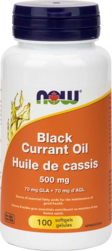 Black Currant Oil 500mg (70mg GLA) 100gel