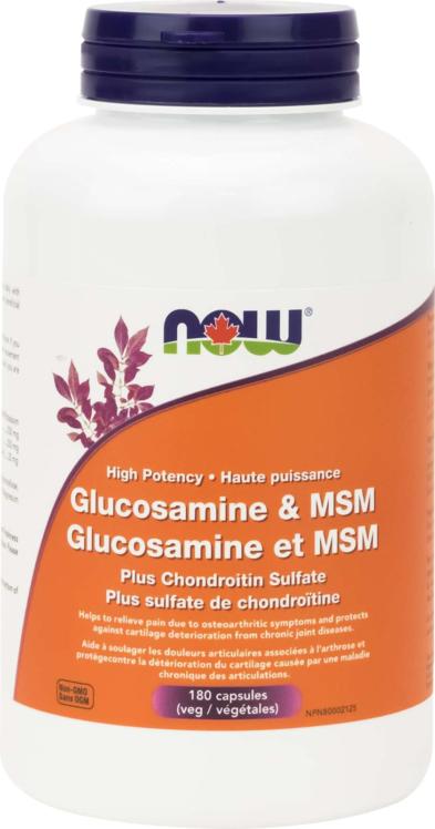 GlucoSulf + MSM (550/250) + Chond 180vcap
