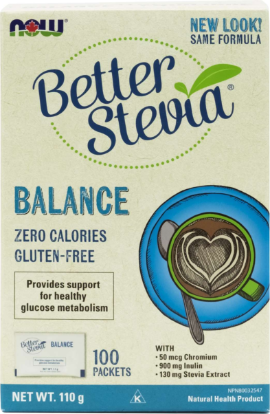 Stevia Balance (with Inulin & Chromium) Packets 1g*100