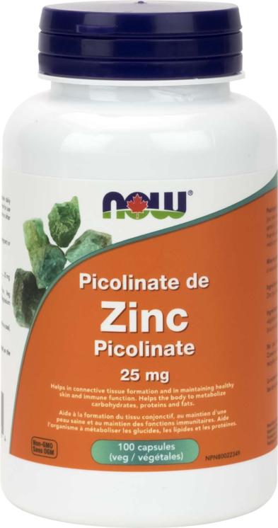 Zinc Picolinate 25mg 100vcap