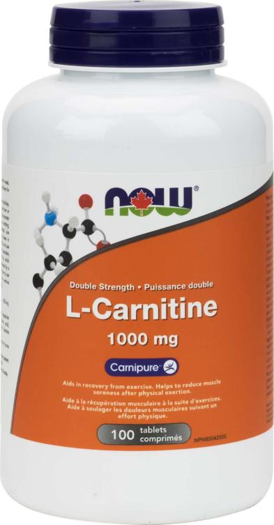 L-Carnitine, Double Strength 1000mg 100tab