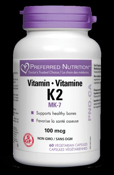 Vitamin K2 100mcg 60 vegicaps