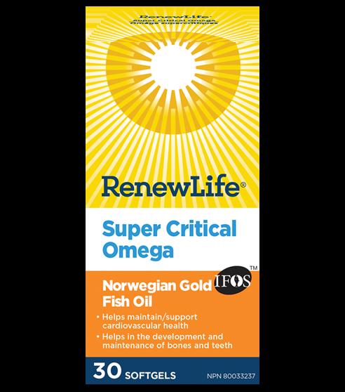 Renew Life® Super Critical Omega Norwegian Gold, Fish Oil and Omega 3's