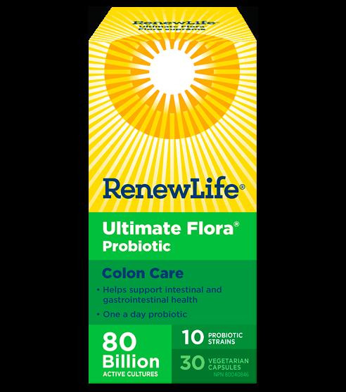 Ultimate Flora® Colon Care, 80 Billion Active Cultures, 30 Capsules