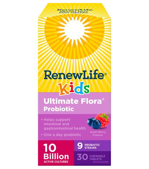 Renew Life® Ultimate Flora® Kids Probiotic, 10 Billion Active Cultures
